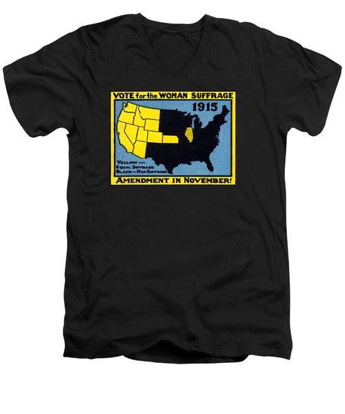 1915 Vote For Women's Suffrage Men's V-Neck T-Shirt