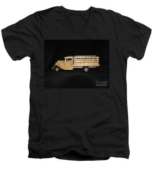 1929 Stake Bed Truck Men's V-Neck T-Shirt by Marilyn Carlyle Greiner