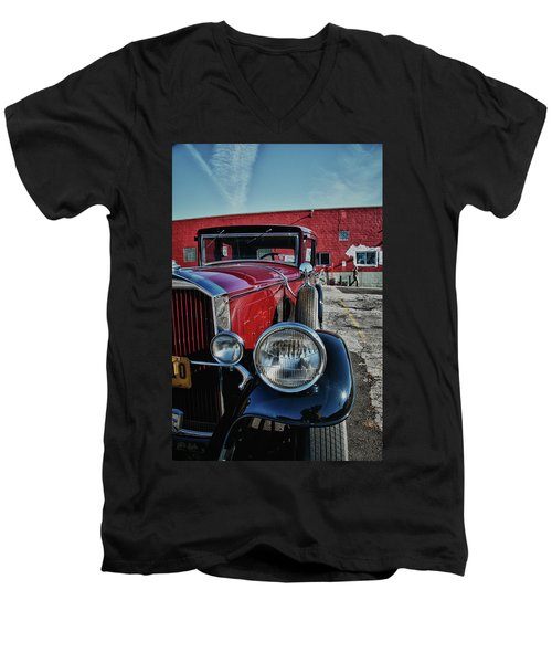 Men's V-Neck T-Shirt featuring the photograph 1931 Pierce Arow 3473 by Guy Whiteley