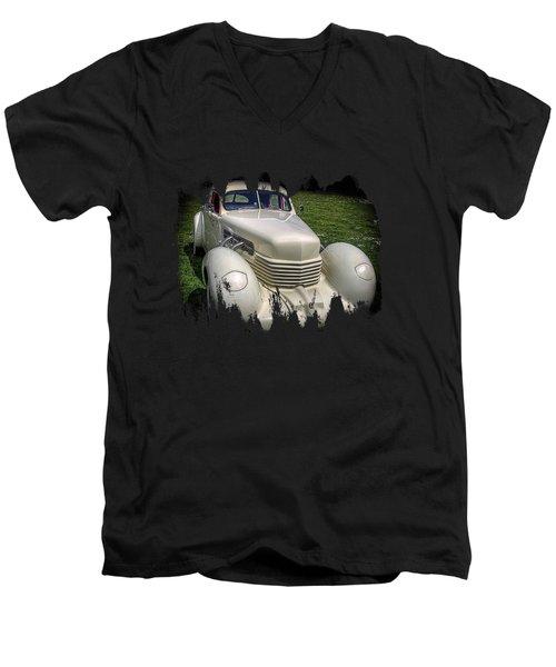 1936 Cord Automobile Men's V-Neck T-Shirt