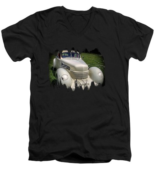 1936 Cord Automobile Men's V-Neck T-Shirt