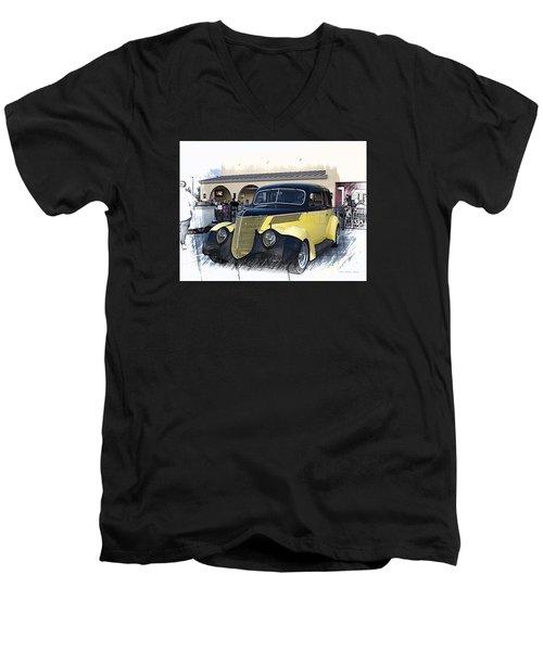 1937 Ford Deluxe Sedan_a2 Men's V-Neck T-Shirt