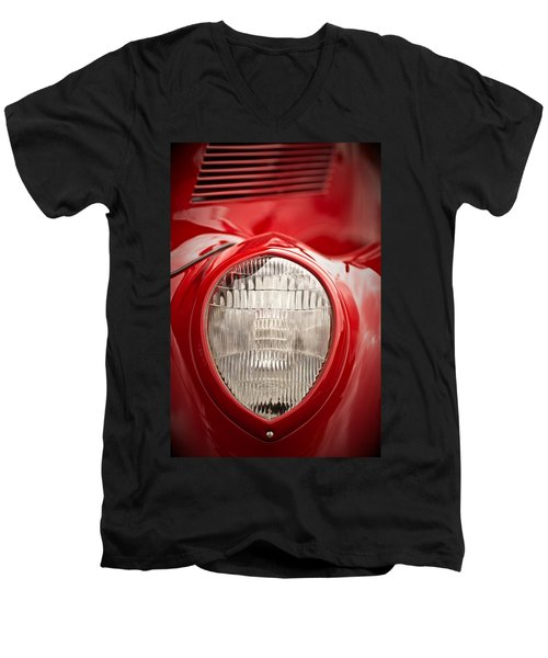 1937 Ford Headlight Detail Men's V-Neck T-Shirt
