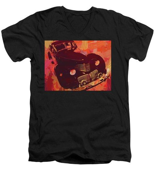 1940 Hupp Skylark Red Pop Men's V-Neck T-Shirt