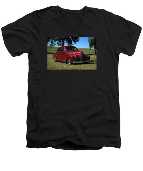 Men's V-Neck T-Shirt featuring the photograph 1941 Chevrolet Custom Street Rod by Tim McCullough