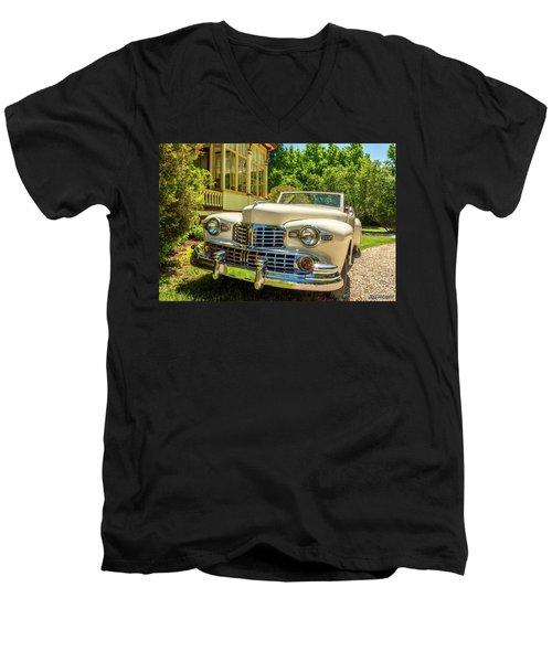 1948 Lincoln Convertible  Men's V-Neck T-Shirt by Ken Morris