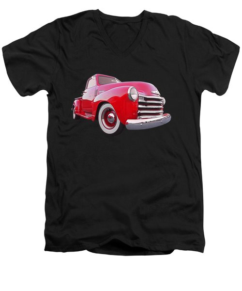 1950 Chevy Pick Up At Sunset Men's V-Neck T-Shirt