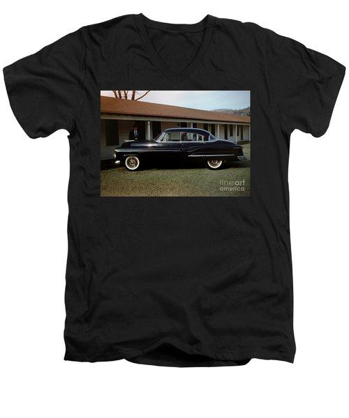 1950 Oldsmobile Futuramic 88 Convertible Men's V-Neck T-Shirt