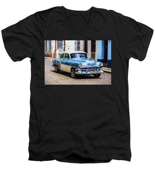 1954 Chevy Cuba Men's V-Neck T-Shirt