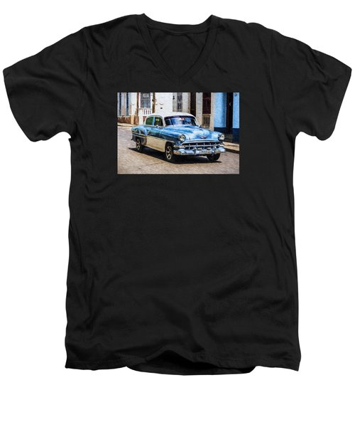 1954 Chevy Cuba Men's V-Neck T-Shirt