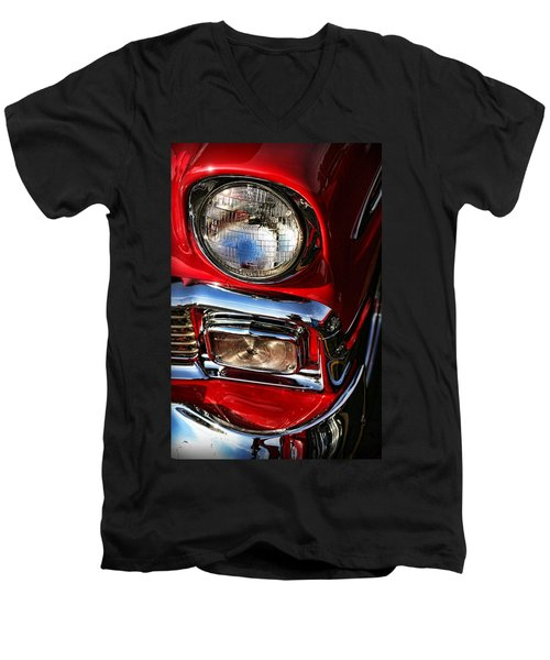 1956 Chevrolet Bel Air Men's V-Neck T-Shirt