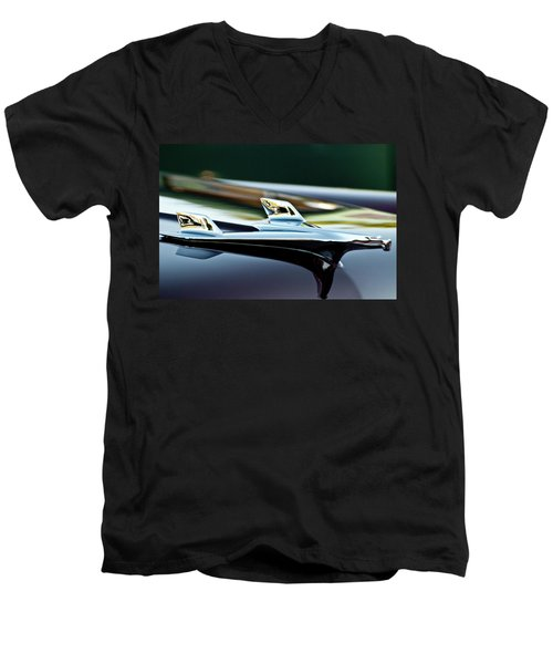 1956 Chevy Belair Hood Ornament Flying 1 Men's V-Neck T-Shirt