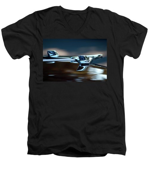 1956 Chevy Belair Hood Ornament Flying 2 Men's V-Neck T-Shirt