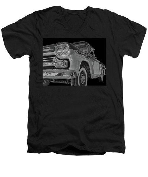 1959 Chevrolet Apache - Bw Men's V-Neck T-Shirt