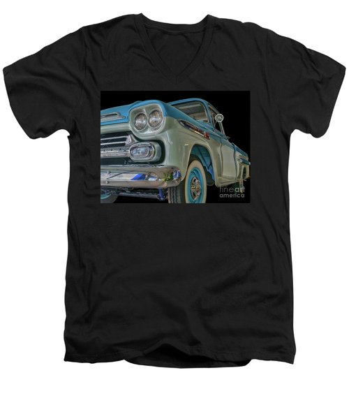 1959 Chevrolet Apache Men's V-Neck T-Shirt