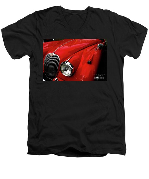 Red Jaguar Men's V-Neck T-Shirt