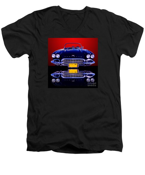 1961 Chevy Corvette Men's V-Neck T-Shirt