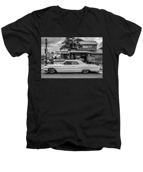 1962 Buick Men's V-Neck T-Shirt by Ken Morris