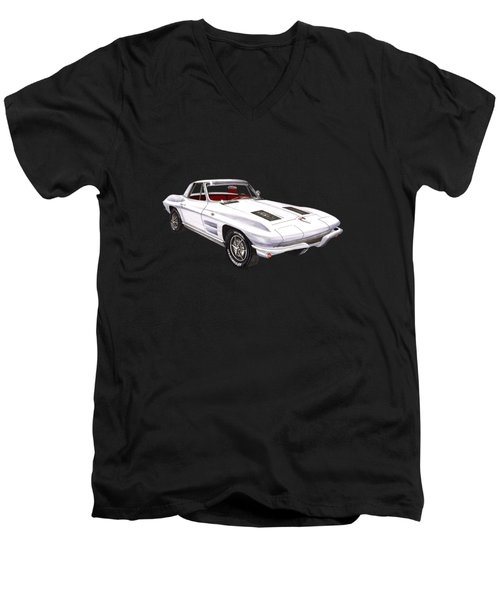 Corvette Sting Ray 1963 Men's V-Neck T-Shirt