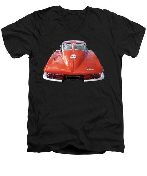 1963 Corvette Stingray Split Window Rear Men's V-Neck T-Shirt