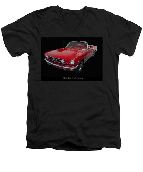 1966 Ford Mustang Convertible Men's V-Neck T-Shirt
