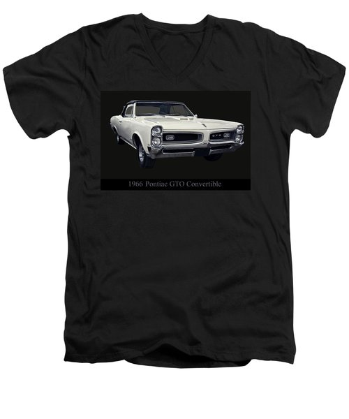1966 Pontiac Gto Convertible Men's V-Neck T-Shirt