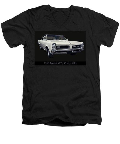 1966 Pontiac Gto Convertible Men's V-Neck T-Shirt