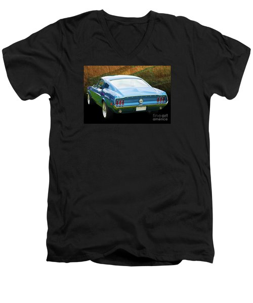 1967 Mustang Men's V-Neck T-Shirt