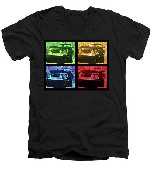 1968 Firebird Pop Quad Men's V-Neck T-Shirt