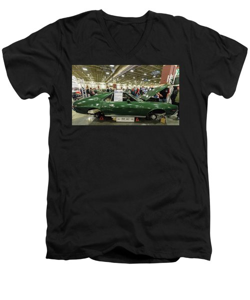 Men's V-Neck T-Shirt featuring the photograph 1969 Amc Amx by Randy Scherkenbach