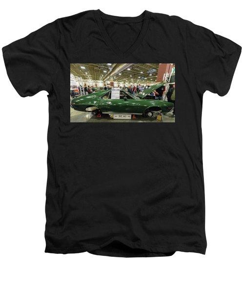 1969 Amc Amx Men's V-Neck T-Shirt by Randy Scherkenbach