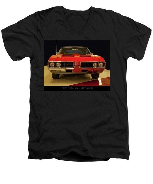 1969 Oldsmobile 442 W-30 Men's V-Neck T-Shirt