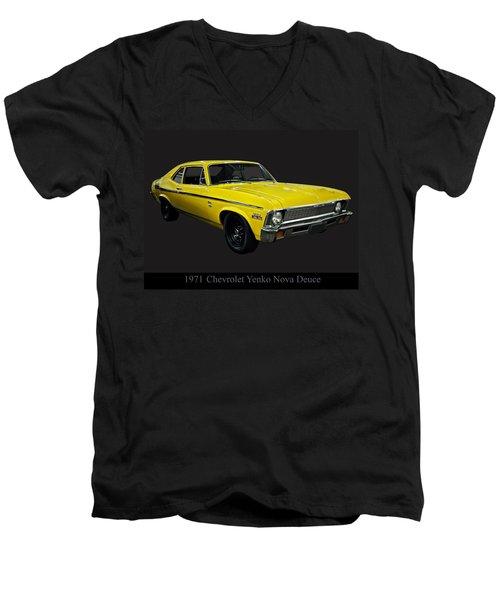 1971 Chevy Nova Yenko Deuce Men's V-Neck T-Shirt by Chris Flees
