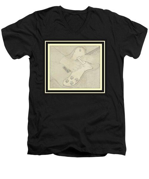 Men's V-Neck T-Shirt featuring the photograph 1972 Fender Telecaster Custom by Chris Berry