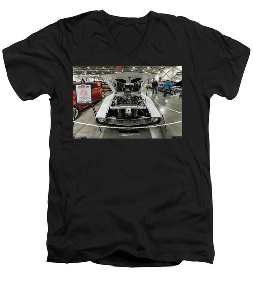 Men's V-Neck T-Shirt featuring the photograph 1972 Javelin Sst 2 by Randy Scherkenbach