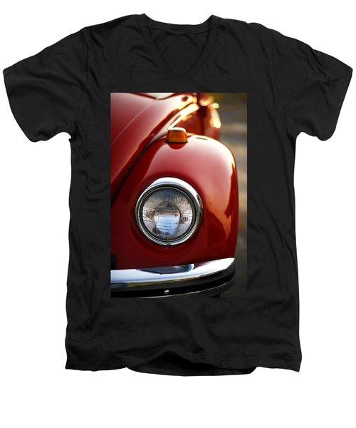 Men's V-Neck T-Shirt featuring the photograph 1973 Volkswagen Beetle by Gordon Dean II