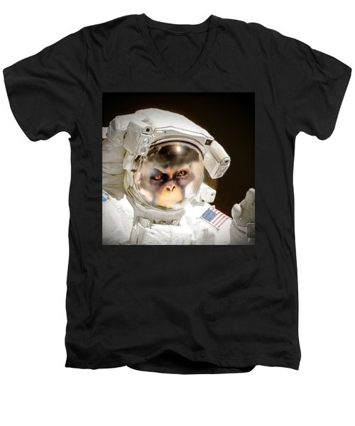 1st Into Space  Men's V-Neck T-Shirt