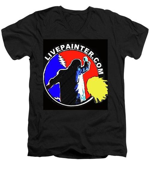1st Live Painter Logo Men's V-Neck T-Shirt