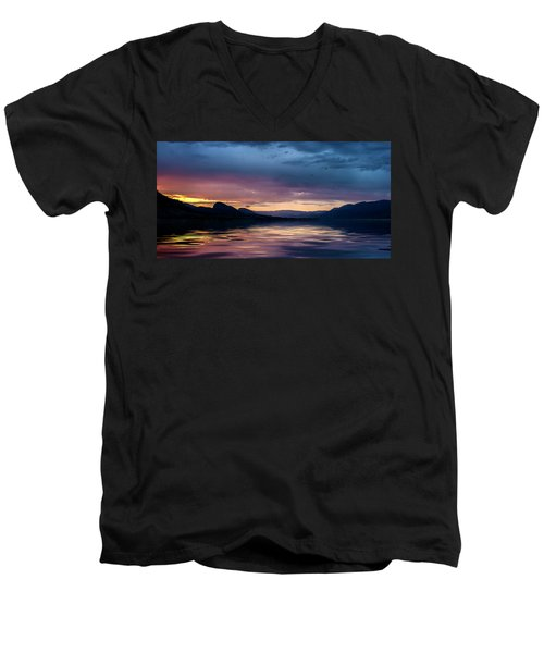 Across The Clouds I See My Shadow Fly Men's V-Neck T-Shirt