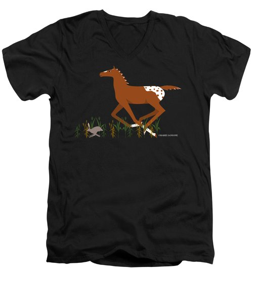 Appy Foal Men's V-Neck T-Shirt