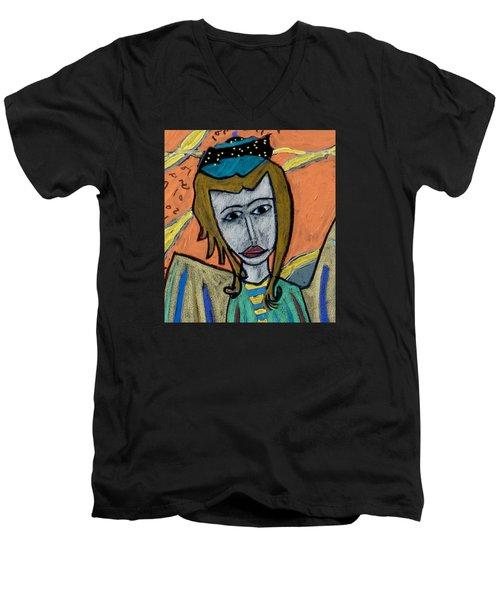 Archangel Uriel Men's V-Neck T-Shirt by Clarity Artists