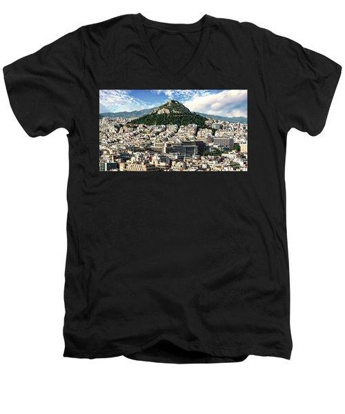 Athens Panorama Men's V-Neck T-Shirt