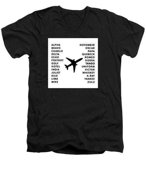 Aviation Code Men's V-Neck T-Shirt