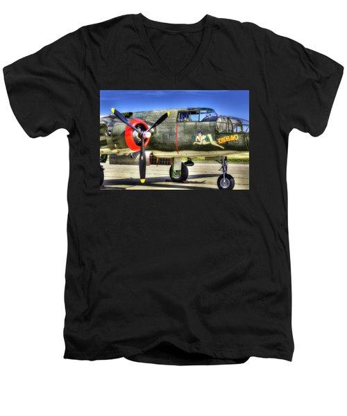 B-25  Men's V-Neck T-Shirt