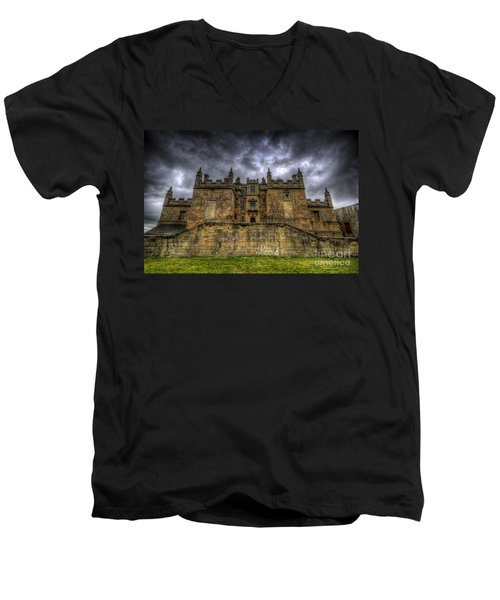 Bolsover Castle Men's V-Neck T-Shirt by Yhun Suarez