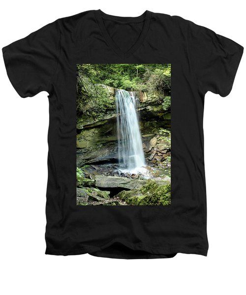 Cucumber Falls Pennsylvania Men's V-Neck T-Shirt