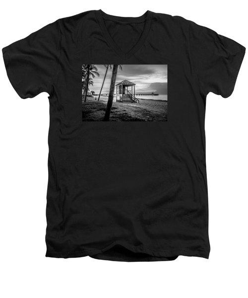 Deerfield Beach  Men's V-Neck T-Shirt by Louis Ferreira