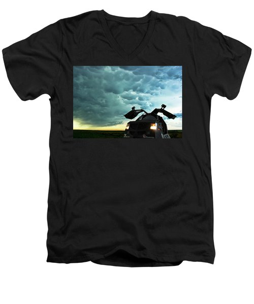 Men's V-Neck T-Shirt featuring the photograph Dominating The Storm by Ryan Crouse