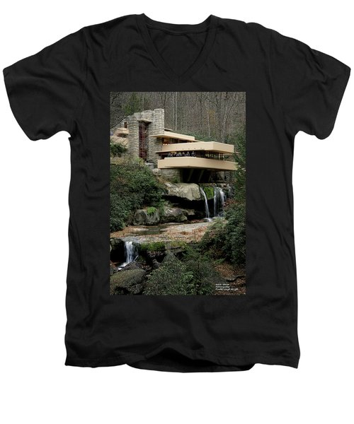Fallingwater Men's V-Neck T-Shirt