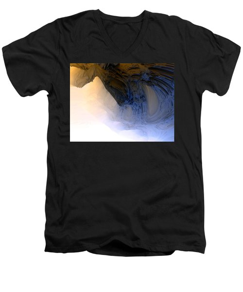 Fog In The Cave Men's V-Neck T-Shirt